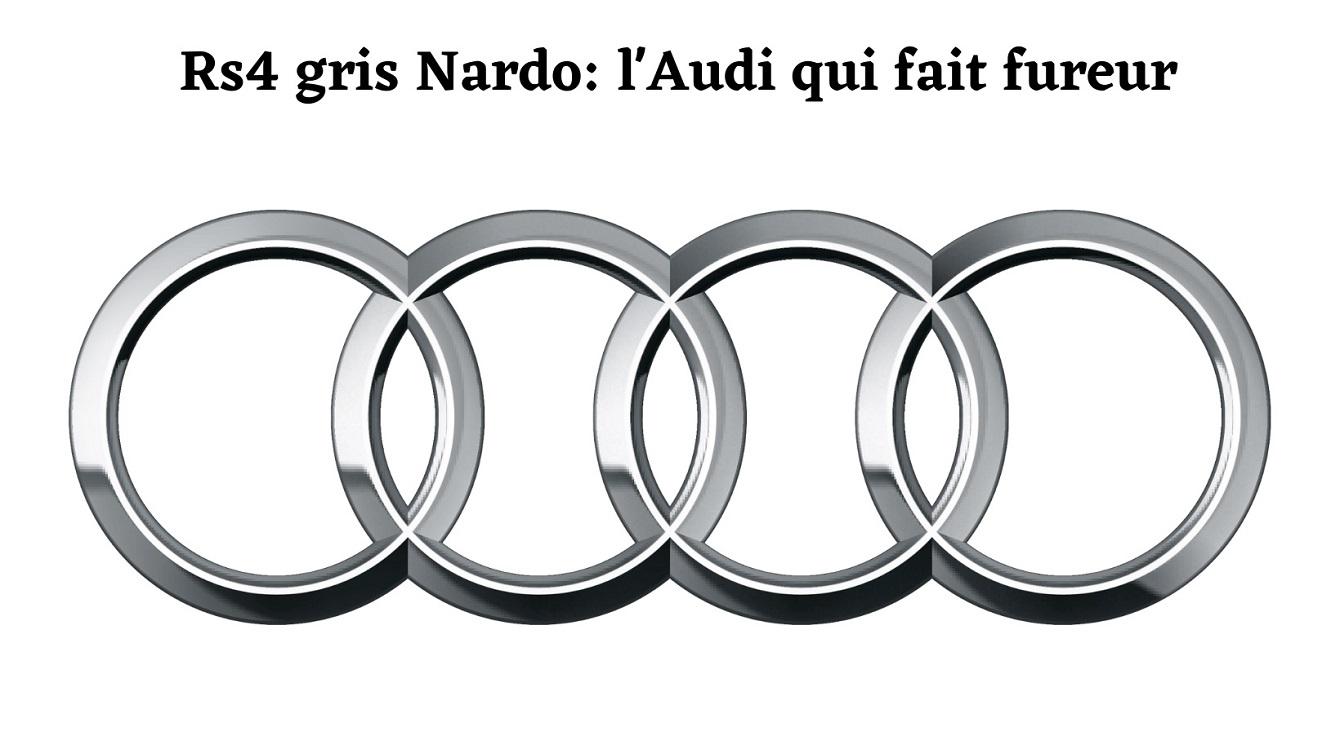 Audi RS4 gris nardo
